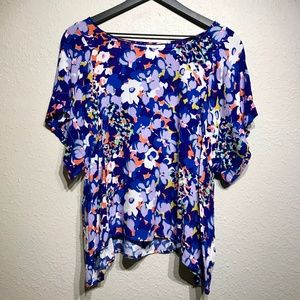 Maeve Anthropologie Floral Printed Blouse